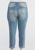 Plus Size Distressed Colorful Stitch Jeans alternate view