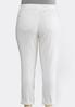 Plus Size Curvy White Distressed Jeans alternate view