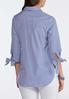 Plus Size Stripe Poplin Shirt alternate view