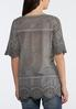Plus Size Embroidered Tie Dye Top alternate view