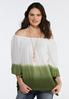Ombre Ruffled Sleeve Top alternate view