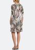 Plus Size Seamed Mod Print Dress alternate view