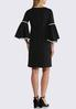 Plus Size Contrast Bell Sleeve Shift Dress alternate view