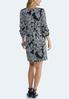 Plus Size Textured Bubble Sleeve Dress alternate view