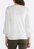Lace Bubble Sleeve Top alternate view