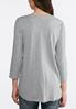 Tie Front Gray Heather Knit Top alternate view
