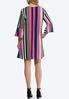 Plus Size Striped Crepe Swing Dress alternate view