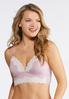 Plus Size Pink And Gray Bralette Set alternate view