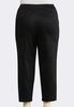 Plus Size Solid Sateen Ankle Pants alternate view