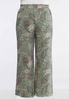 Plus Size Floral Paisley Palazzo Pants alternate view
