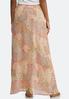 Plus Size Pink Paisley Maxi Skirt alternate view