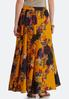 Golden Floral Swing Maxi Skirt alternate view