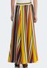 Plus Size Multi Stripe Swing Maxi Skirt alternate view