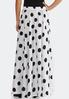 Plus Size Black White Dot Swing Maxi Skirt alternate view