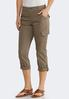 Cropped Roll Tab Cargo Pants alternate view