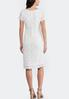 Plus Size White Lace Midi Dress alternate view