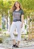 Plus Size Cropped White Jeans alternate view