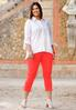 Plus Size Cropped Colored Jeans alternate view