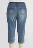 Plus Size Cropped Distressed Jeans alternate view