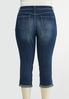 Plus Size Cropped Girlfriend Jeans alternate view