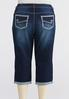 Plus Extended Curvy Uplifting Cropped Skinny Jeans alternate view