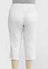 Plus Size Curvy White Cropped Skinny Jeans alternate view