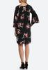Plus Size Floral Puff Print Peasant Dress alternate view