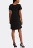 Plus Size Cold Shoulder Flounce Sleeve Dress alternate view