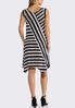Plus Size Multi Directional Stripe Dress alternate view