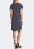 Plus Size Cold Shoulder Striped Knit Dress alternate view
