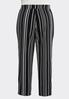 Plus Size Contrast Dotted Stripe Pants alternate view