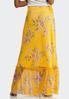 Floral Mesh Maxi Skirt alternate view