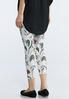 Cropped Swirly Floral Leggings alternate view
