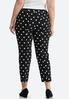 Plus Size Polka Dotted Bengaline Pants alternate view
