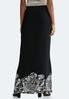 Puff Floral Border Maxi Skirt alternate view