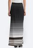 Dotted Stripe Border Maxi Skirt alternate view
