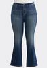 Plus Size Sparkling Pocket Jeans alternate view
