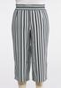 Plus Size Cropped Stripe Pants alternate view