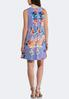 Plus Size Blue Floral Swing Dress alternate view