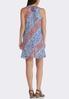 Pleated Paisley Swing Dress alternate view