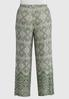 Plus Size Green Paisley Palazzo Pants alternate view