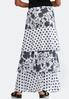 Plus Tiered Floral Dot Skirt alternate view
