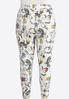 Plus Size Cropped Swirly Floral Leggings alternate view