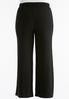 Plus Extended Belted Knit Palazzo Pants alternate view