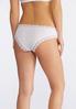Plus Size Lace Trim Yellow And White Panty Set alternate view
