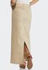 Khaki Denim Maxi Skirt alternate view