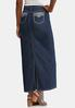Plus Size Bling Pocket Denim Maxi Skirt alternate view