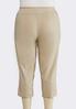 Plus Size Grommet Hem Cropped Pants alternate view