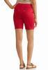 Red Denim Bermuda Shorts alternate view