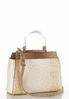 Lucite Handle Textured Satchel alternate view